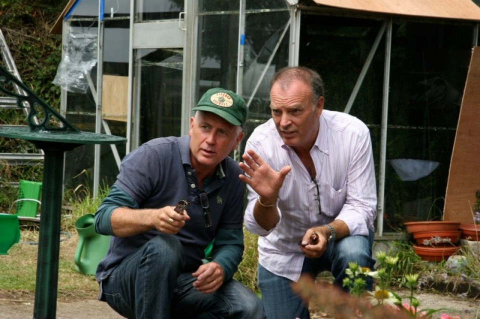 Director Mike Slee (L) and Barker (R)