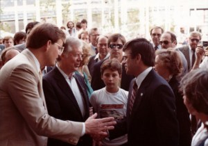 President Jimmy Carter visits the US Pavilion at the 1984 Louisiana World Exposition. Photo: James Ogul