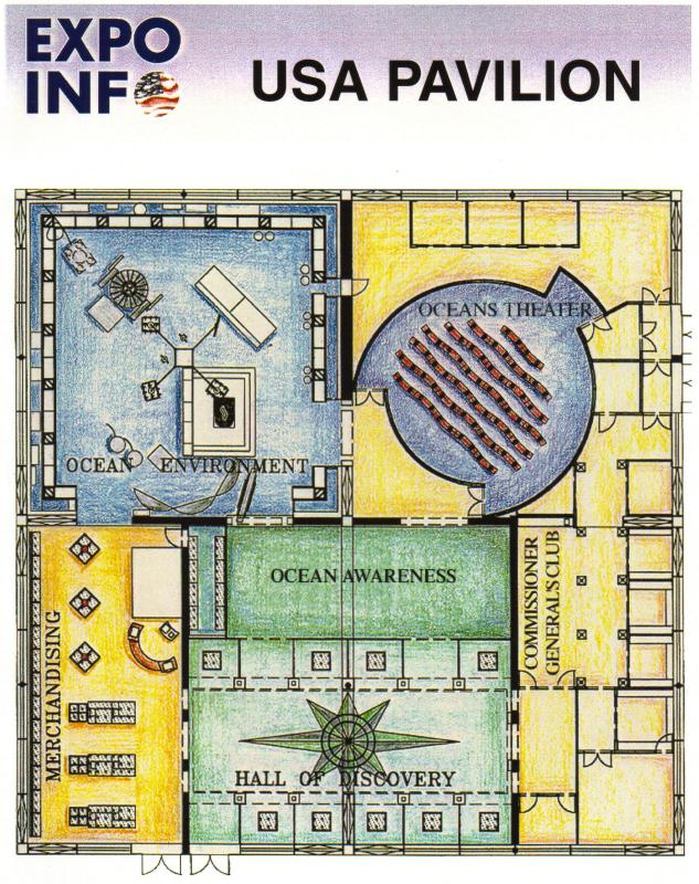 Lisbon 98: The US Pavilion floor plan. Photo courtesy James Ogul.