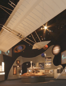 A replica of the Wright Glider was on exhibit in the US Pavilion at Expo 2005.