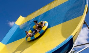 The Boomerango Waterslide, a staple of a modern waterpark Photo courtesy WhiteWater West.