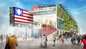 Rendering of the USA Pavilion for Milan 2015