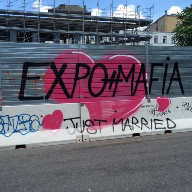 Speaking of graffiti, the Expo was opposed by anti-capitalist activists. A May Day riot that coincided with the fair's opening saw the city's downtown core splashed with anti-Expo slogans. If nothing else, it gives the Expo more exposure!