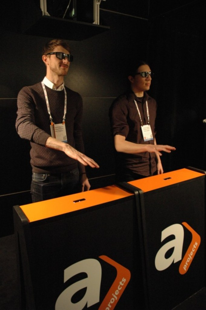 Guillaume Gallant and Valentin Chareyre demo gesture-based technology