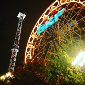 Liseberg at night