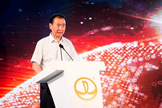 Wanda Group Chairman Wang Jianlin during the opening ceremony of Wanda Xishuangbanna International Resort. Courtesy Dalian Wanda Group.