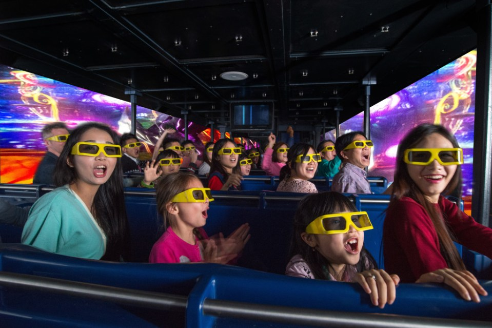 Dynamic's Immersive Transporter attraction is enjoyed by guests in China
