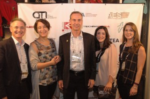John Robinett, center, with AECOM colleagues Brian Sands, Margreet Papamichael, Kathleen LaClair, Megan Gilbert