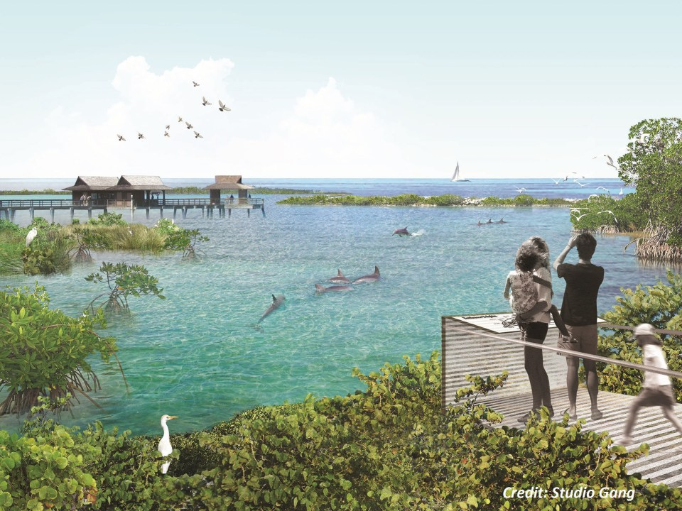 National Aquarium's proposed rendering of what a potential site could look like, courtesy of Studio Gang. (PRNewsFoto/National Aquarium)