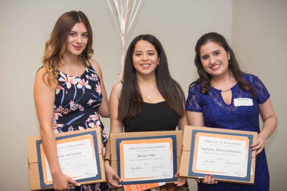 Ryman Arts Grads Maribel Hernandez, Marisa Velez, Stephanie Petteplace
