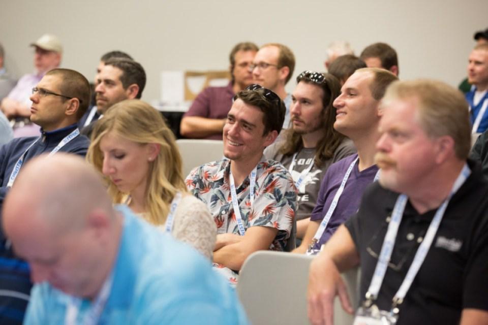 InPark's JoeKleiman (on left) attends First Timer's Orientation. Courtesy InfoComm.