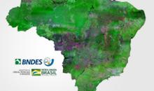 Imagem Mosaico do Brasil com imagens CBERS-4 financiado pelo BNDES é disponibilizado pelo INPE