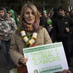 """Roma 8 febbraio, manifestazione """"illegale è la legge!"""" per l'abolizione della legge Fini, Giovanardi."""