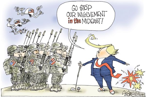 Political Cartoon: War to end our Middle East wars