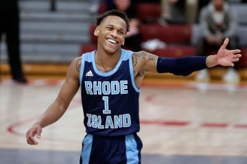 Fatts Russell makes it a special night on Hawk Hill -- for Rhode ...