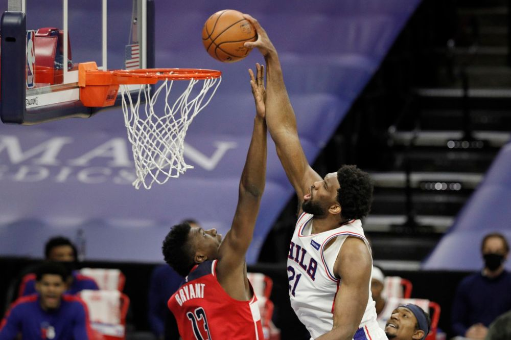 Joel Embiid's late heroics lead Sixers to a closer than expected, 141-136,  victory over Washington