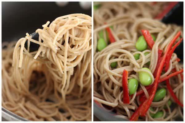 Soba Noodles with Miso Vinaigrette