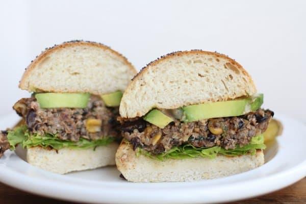 Black Bean & Quinoa Veggie Burgers