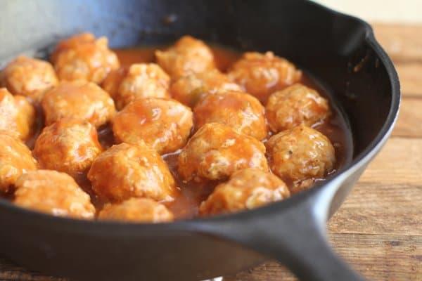 Southwestern Meatballs in Easy Adobo Sauce {Gluten-Free}