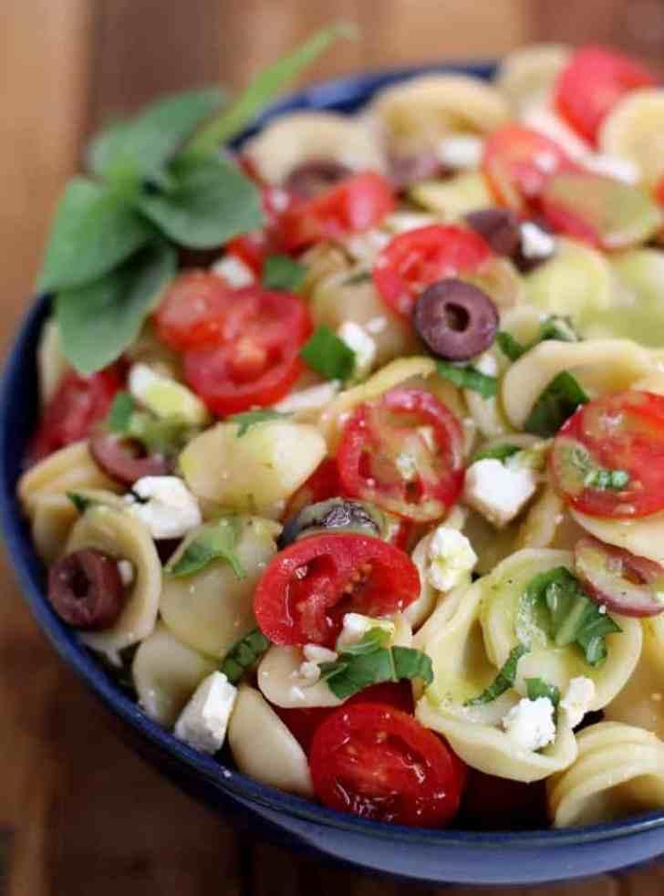 Pasta Salad with Sweet Basil Vinaigrette : Inquiring Chef