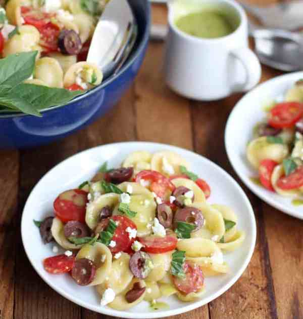 Pasta Salad with Sweet Basil Vinaigrette :: Inquiring Chef