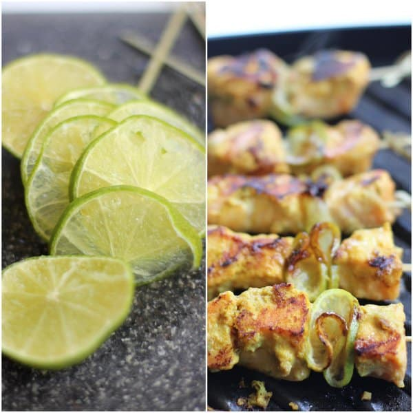 Salmon Satay Skewers with Lime