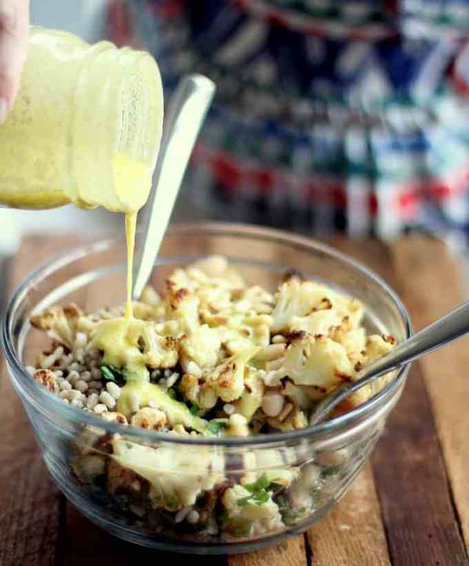 Warm Cauliflower and Barley Salad