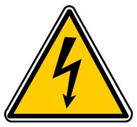 Pictogramme d'avertissement du danger électrique