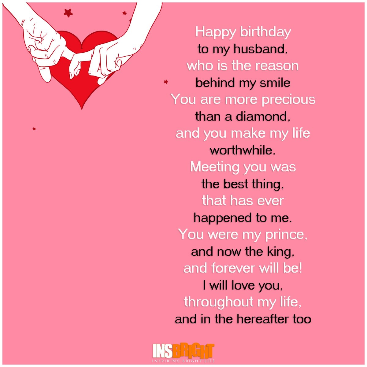 Romantic Happy Birthday Poems For Husband From Wife ...
