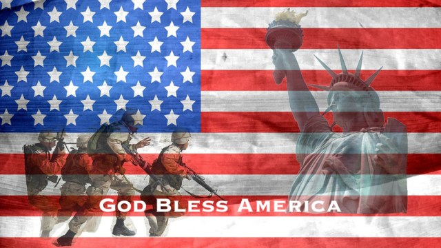 Flag - Military - Bless - Statue