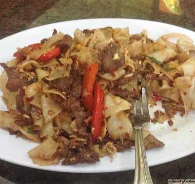Spicy Drunken Noodle with Beef