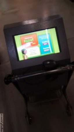 Cart with Screen & Scanner