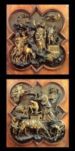 Sacrificio di Isacco, Ghiberti e Brunelelschi, Concorso del 1401, Museo dell'Opera del Duomo, Firenze