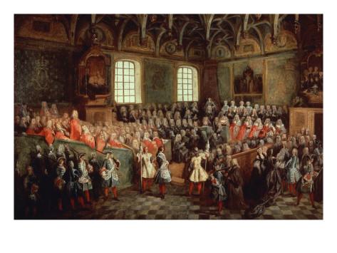 La Sede di Giustizia in Parlamento, Nicolas Lancret, 1724, Parigi, Louvre