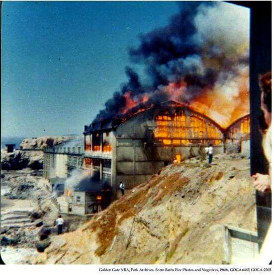 sutro baths burning 1966