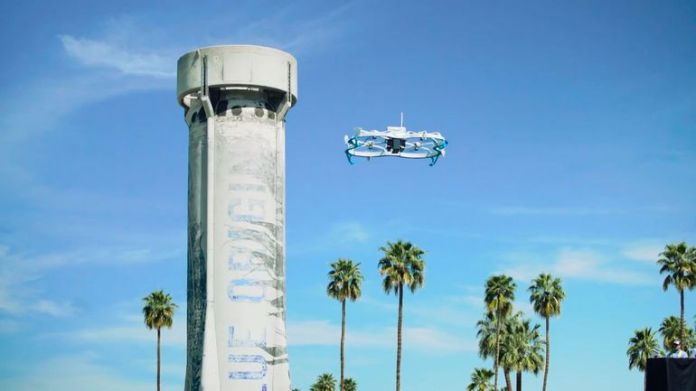Amazon Prime Air drone deliver its first package