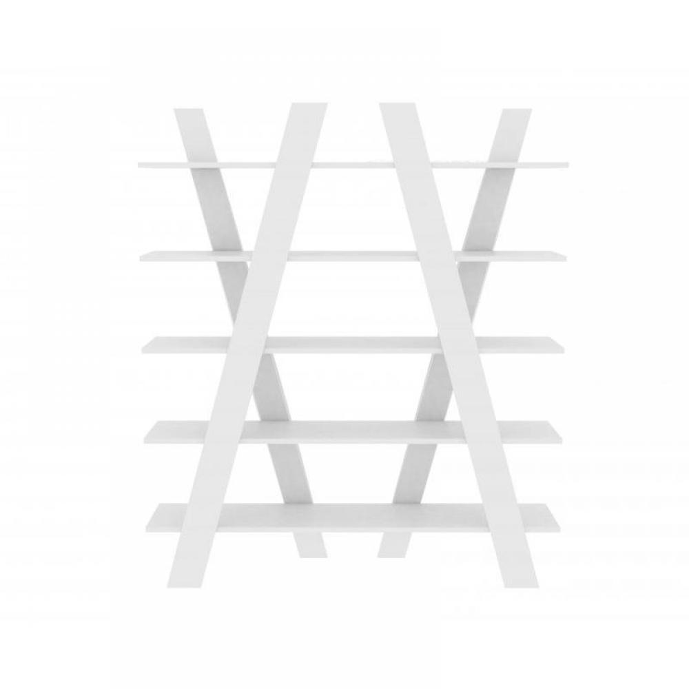 wind bibliotheque etagere design blanche mate