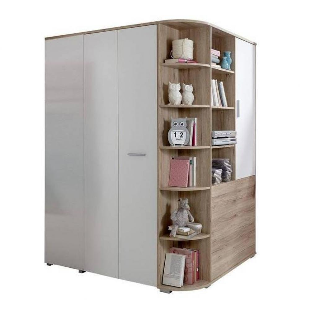 armoire dressing d angle volverine chene blanc