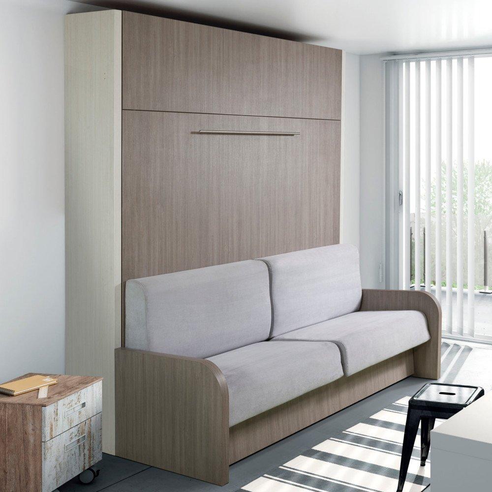 Armoire Lit Escamotable Avec Canape Integre Au Meilleur Prix Space Sofa Armoire Lit Escamotable 120cm Canape Integre Inside75