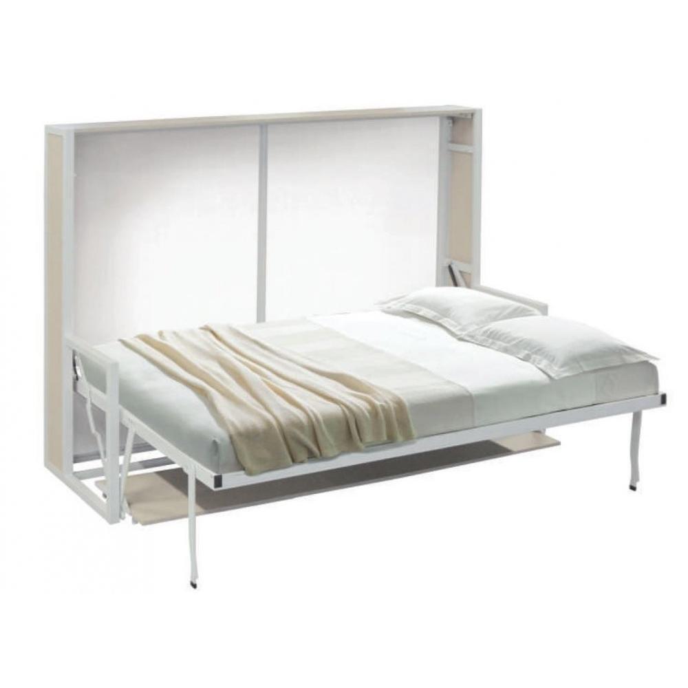 armoire lit transversale bdesk couchage 140 200 cm