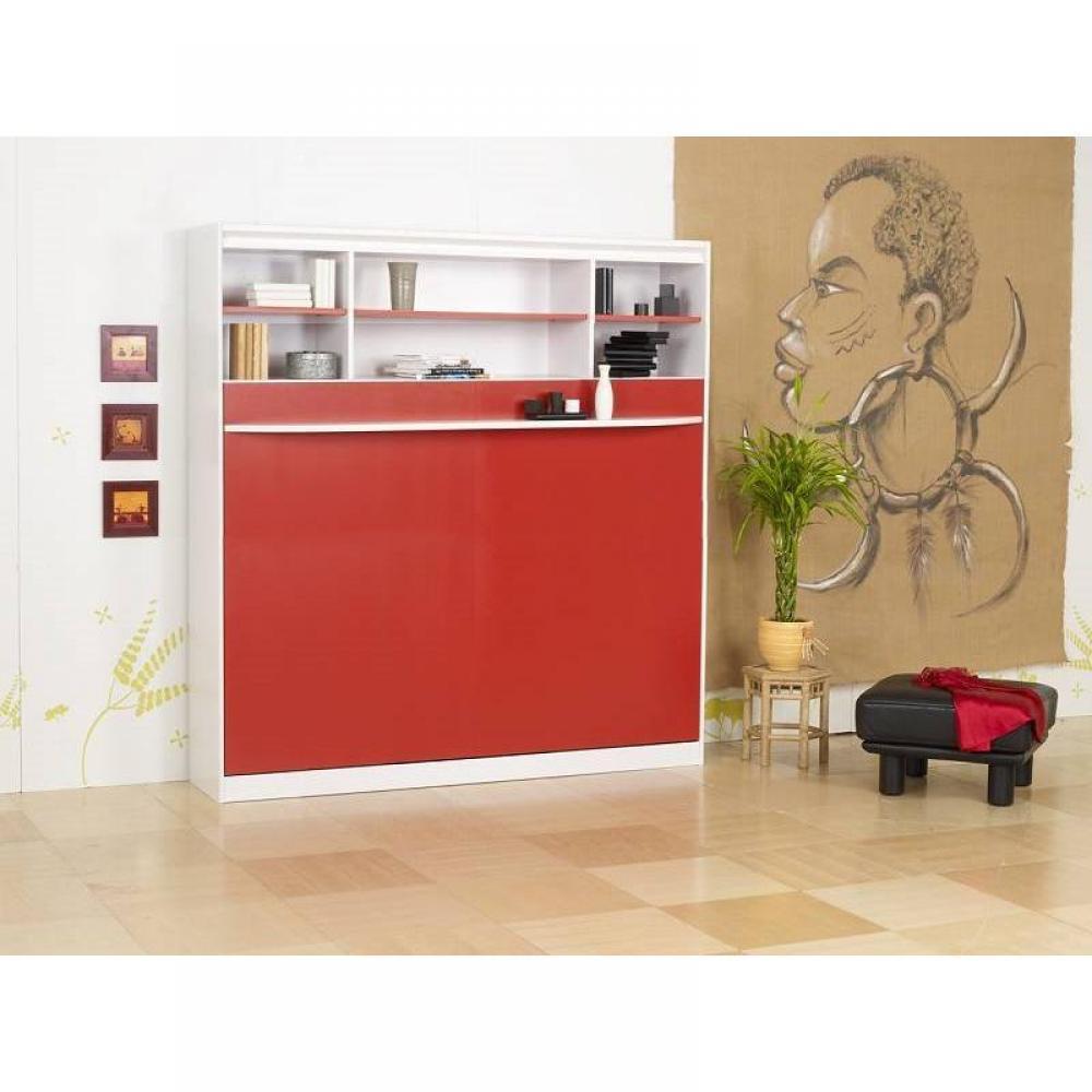 lit escamotable 140 cm transversale studio 2000 griffon etageres
