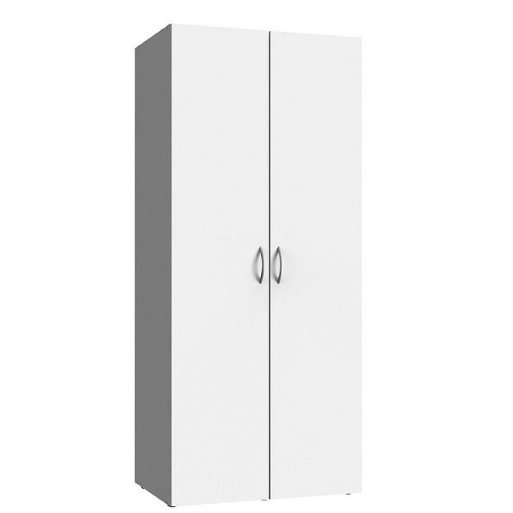 armoire de rangement lund 2 portes blanc mat largeur 80 x 54 cm profondeur