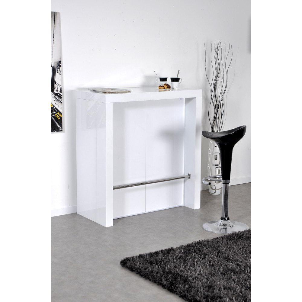 extend bar blanc bar console haute