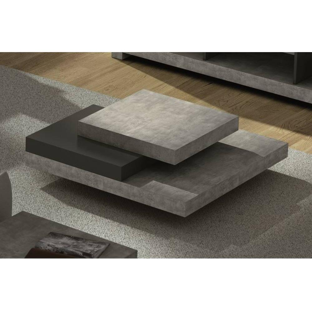 slate table basse facon beton