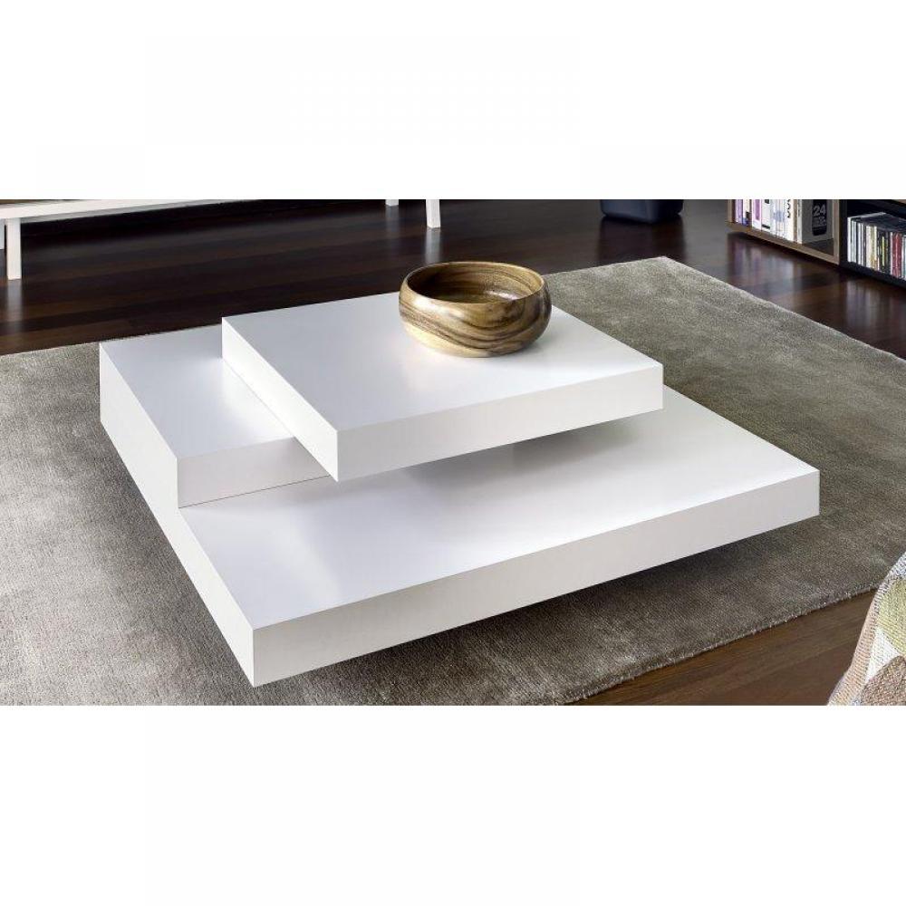 slate table basse design blanc mate