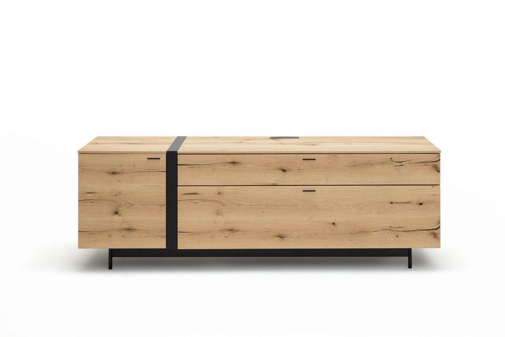 buffet bas meuble tv style chene naturel