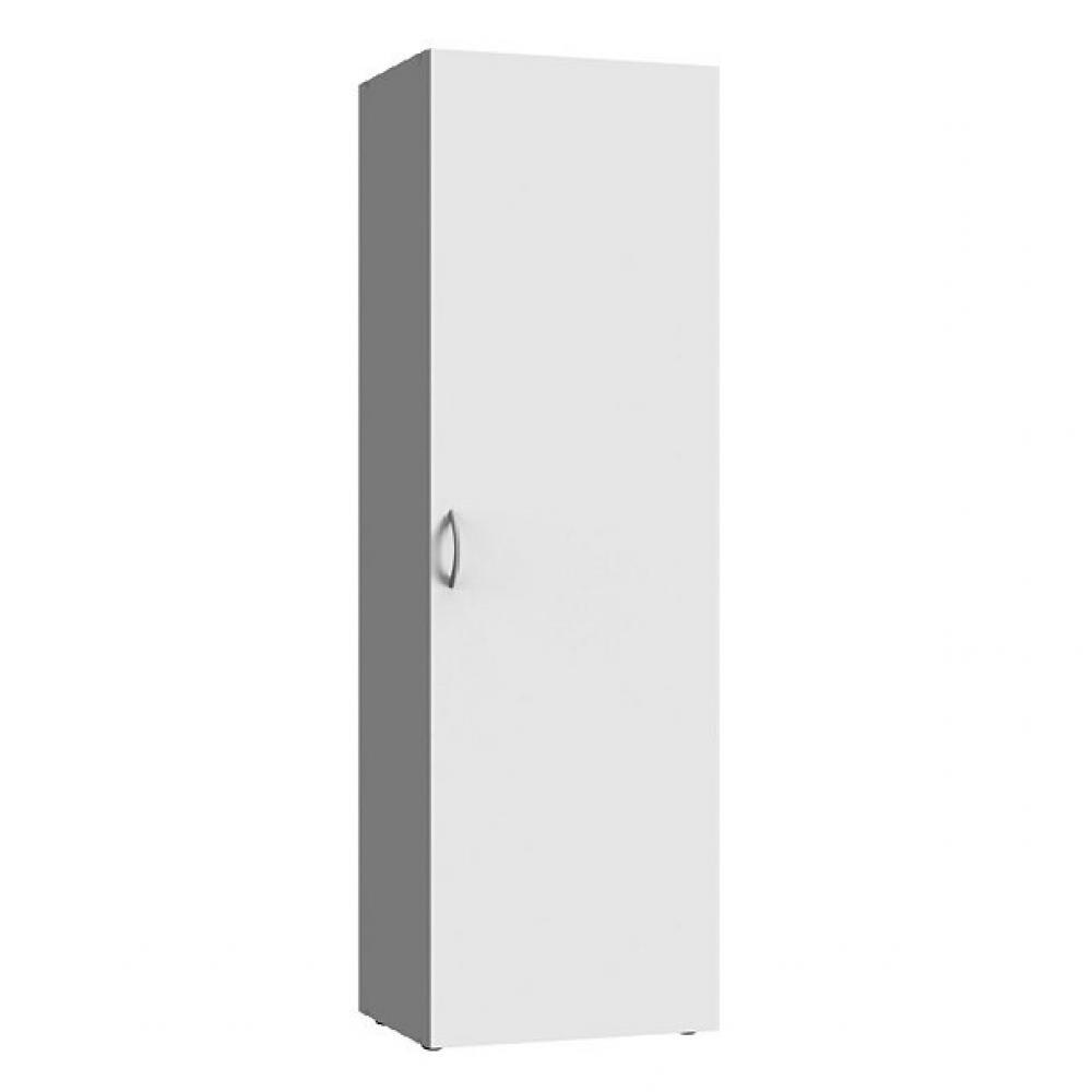 colonne de rangement lund 1 porte blanc mat largeur 40 x 40 cm profondeur