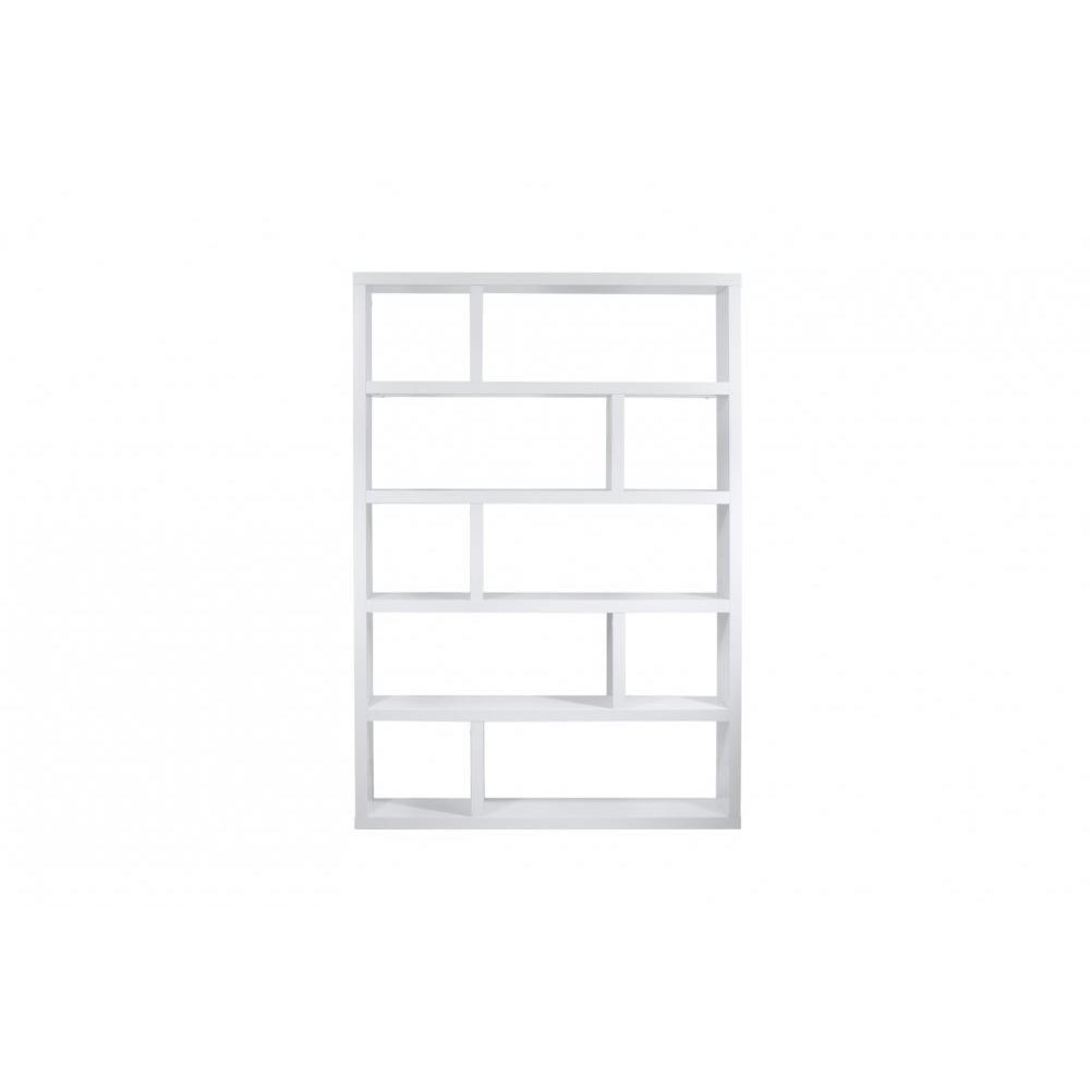 bibliotheque etagere dublin 10 casiers blanc mat