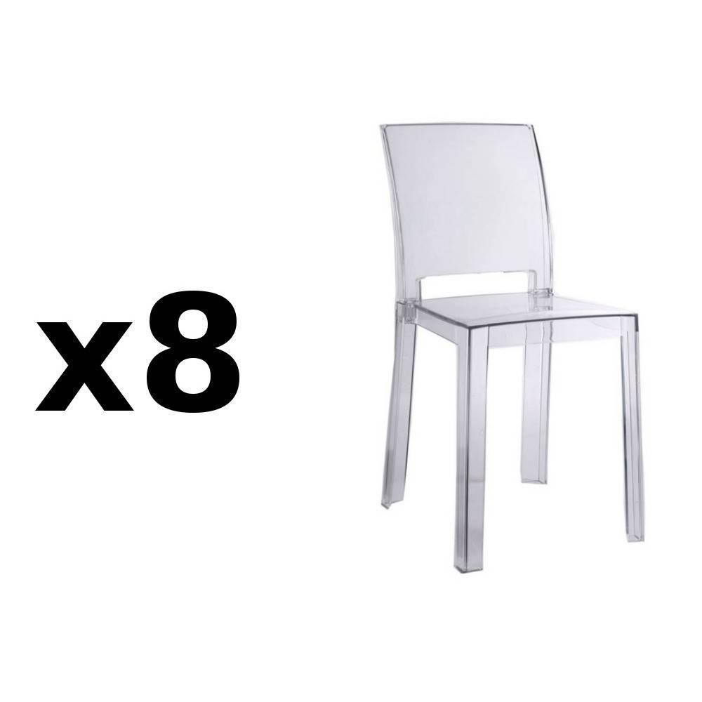 lot de 8 chaises design futura