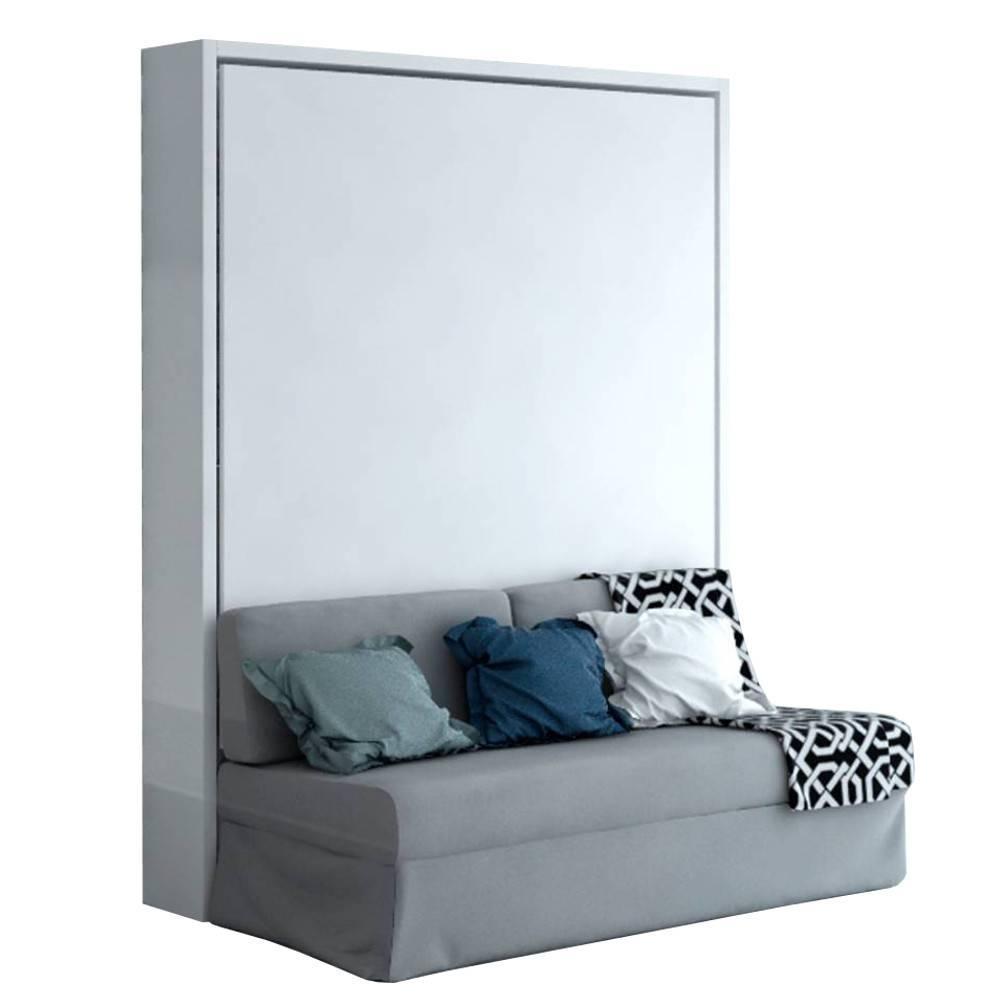 armoire lit verticale magic canape integre 160 200 cm